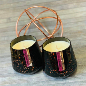 Speckle Collection Soy Candle- Black