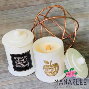 Teacher Gift- Wood Wick Soy Candle