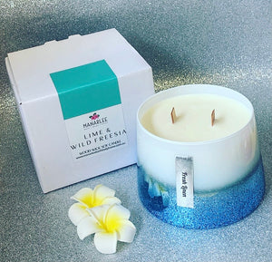 """Whitsunday Blue"" Glam Soy Candle 600ml"