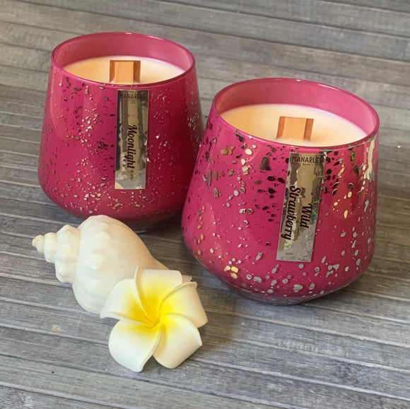 Speckle Collection Soy Candle- Magenta