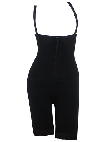 Slimming Mesh Body Shaper with Front Zipper
