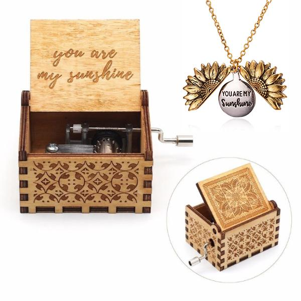 You Are My Sunshine Music Box + Necklace