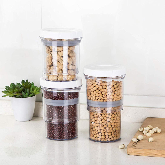 Adjustable Food Storage Jar 16 oz & 32 oz Home & Kitchen SmartGear Factory