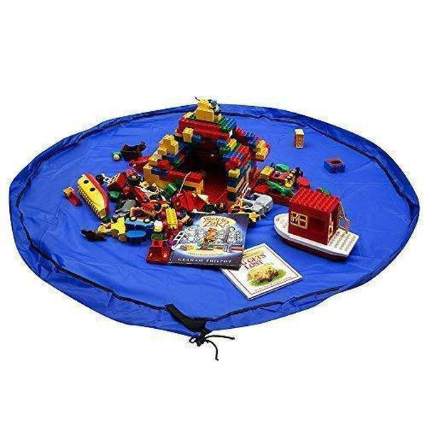 Adventure3D™ Blue Lego Storage Bag 60 inches Toys & Games SmartGear Factory