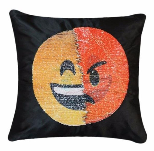 Face Changing Emoji Sequin Pillow Cover Original Gift SmartGear Factory