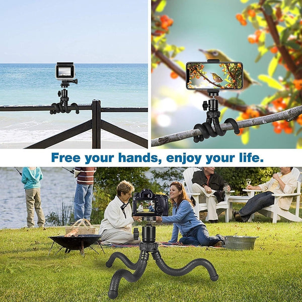 Flexible Phone Tripod Set with Wireless Remote Control Mobile Accessories SmartGear Factory
