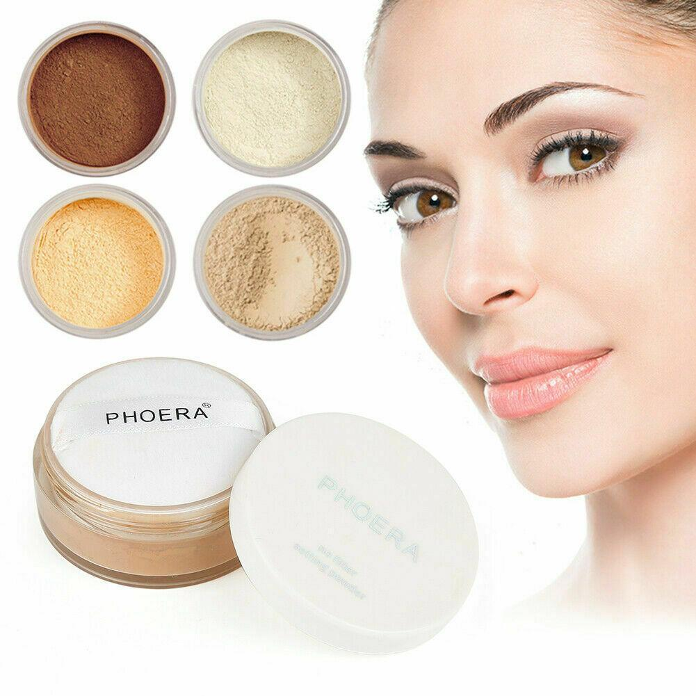 itsgenie.com-Phoera Translucent Face Powder Makeup Foundation-Phoera Translucent Face Powder Makeup Foundation - planetshopper.net