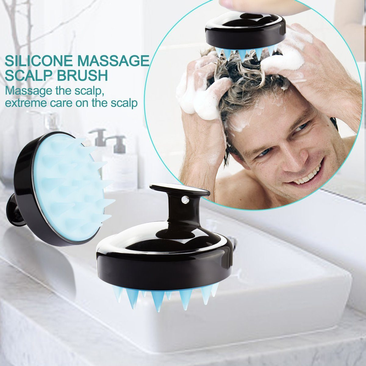 Scalp Massage Shampoo Brush Makeup & Beauty SmartGear Factory