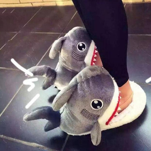 Shark Furry Slippers Original Gift SmartGear Factory
