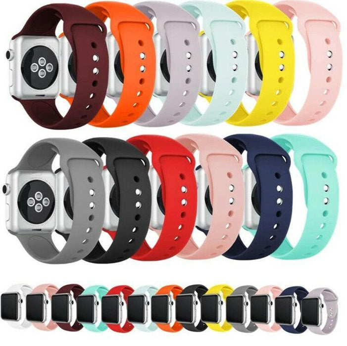 VANITY PLEX-Silicone Strap Band for Apple Watch Sports Series 5/4/3/2/1 38mm 40mm 42mm 44mm-Silicone Strap Band for Apple Watch Sports Series 5/4/3/2/1 38mm 40mm 42mm 44mm