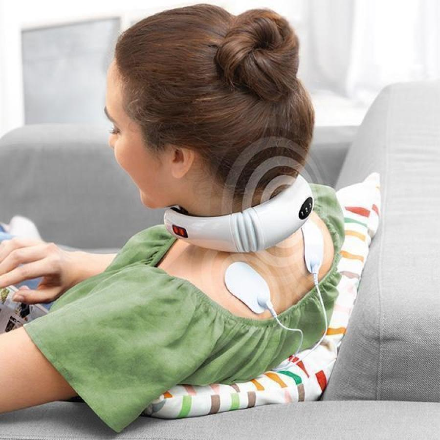 itsgenie.com-Wearable IR Neck Massager-Wearable IR Neck Massager - planetshopper.net