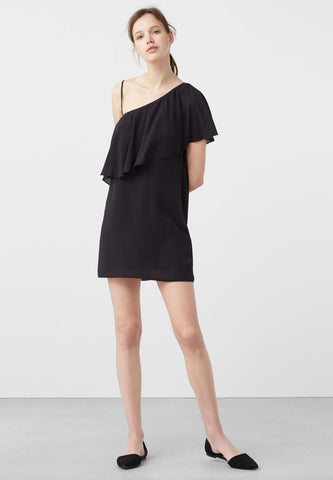 Shift Mid One-shoulder Dress