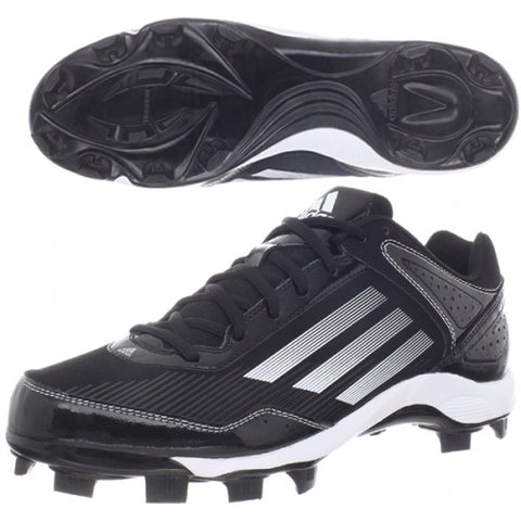 Adidas HotStreak TPU 2 Rubber Cleats: Black