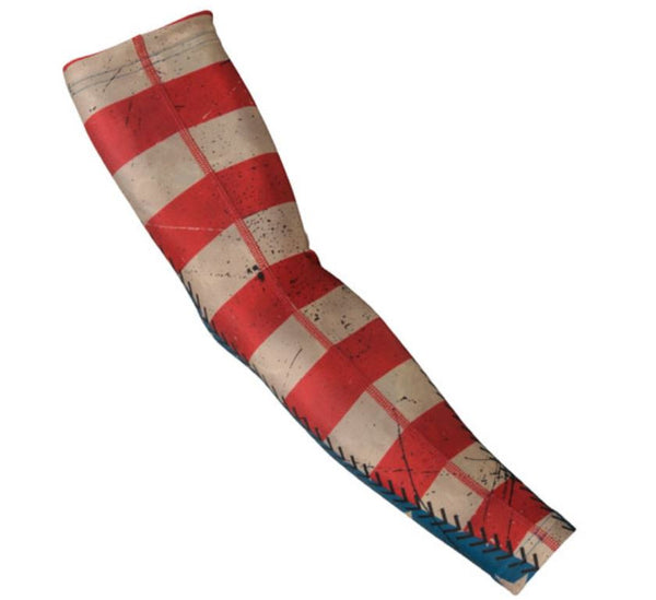 R J Sports Mens Compression Sleeve - American Flag