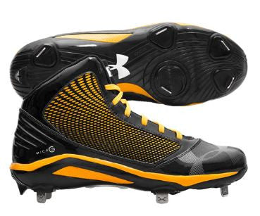 Under Armour Mens Yard Mid ST Metal Cleats