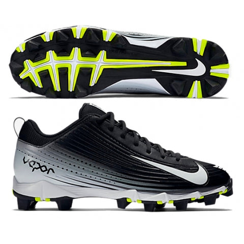 Nike Vapor Keystone Low Rubber Cleats: Black/White