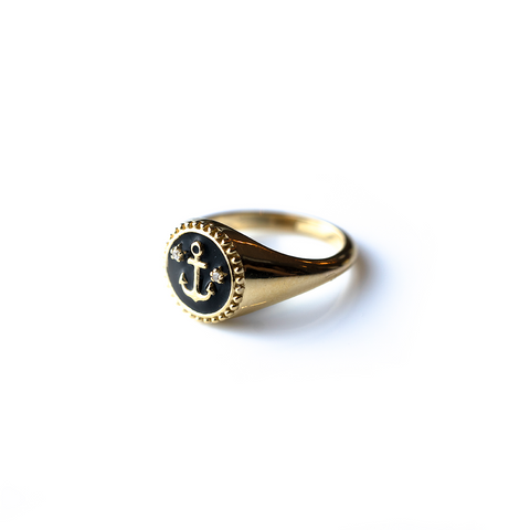 Anchor Signet Ring