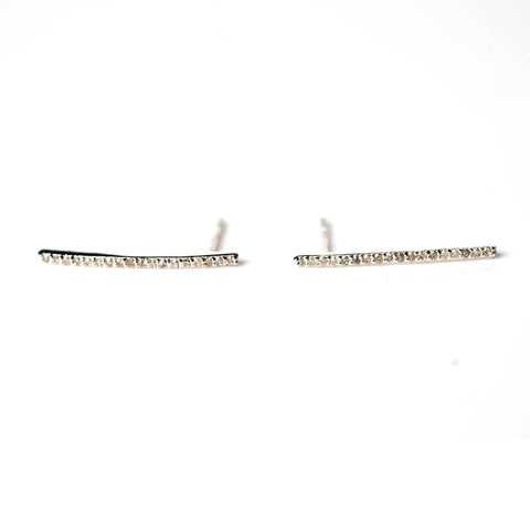 Sterling Silver Bar Stud Earrings