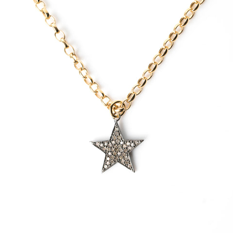 Diamond Chunky Star Necklace