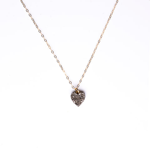 Double -Sided Pavé Diamond Heart Necklace