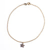 Double-sided Pavé Diamond Star Anklet