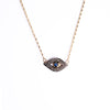 Pavé Diamond Evil Eye Necklace
