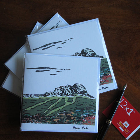 Haytor Rocks; Four Greeting Cards