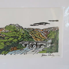 Castle Drogo and Fingle Bridge Original Print
