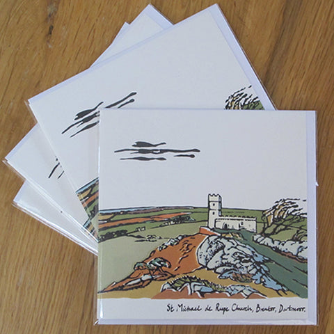 St Michael de Rupe Church, Brentor; Four Greeting Cards