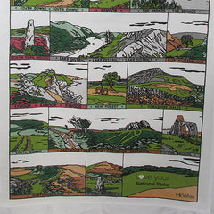 English National Park Tea Towel