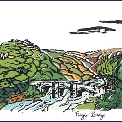 Fingle Bridge; Four Greeting Cards