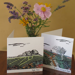 Granite Tramway, Haytor; Four Greeting Cards