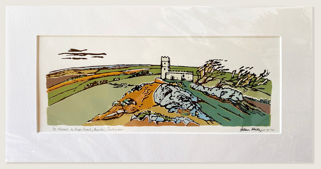 St Michael de Rupe Church, Brentor, Dartmoor Original Print