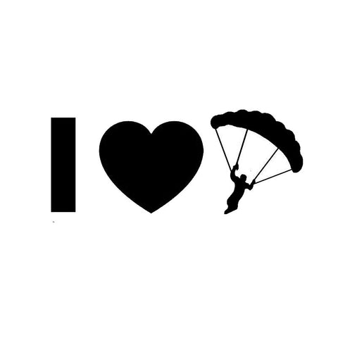 12.7cm*5.1cm I Love Skydiving Vinyl Car Sticker