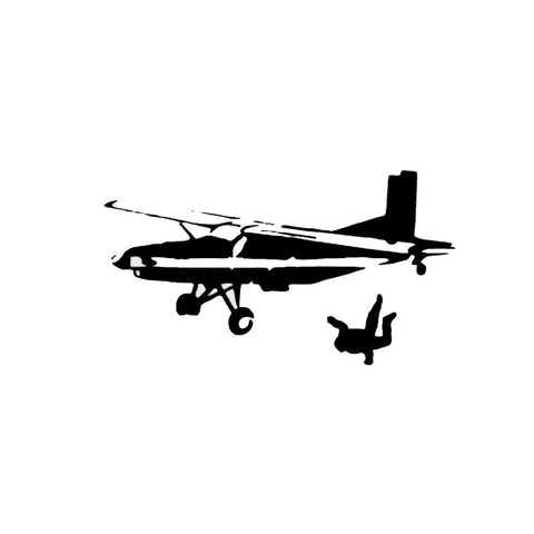 14*7.7CM  Airplane Vinyl Sticker