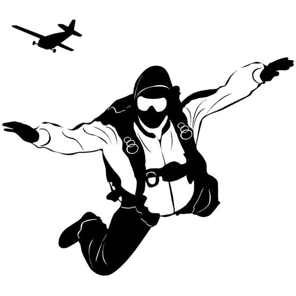 Skydiver Wall Decal Decoration