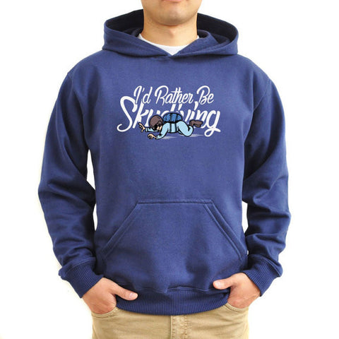 Hoodie Logo I'd rather be skydiving