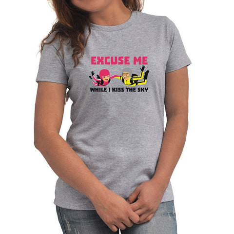 Excuse me while I kiss the sky Women T-Shirt