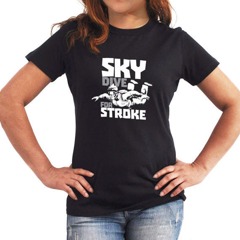Woman T-Shirt Skydive for stroke