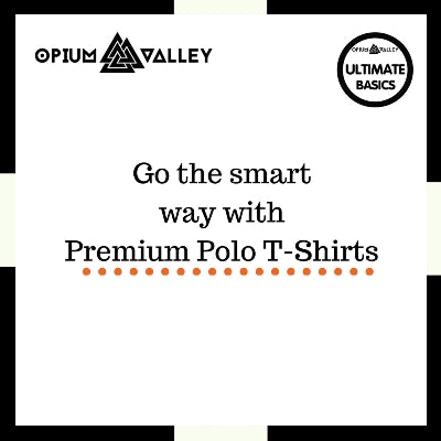 Go the smart way with premium polo t-shirts