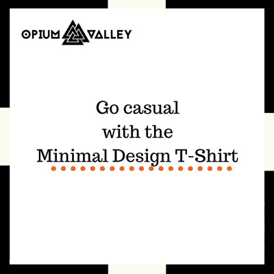 Go casual with the minimal design t-shirt