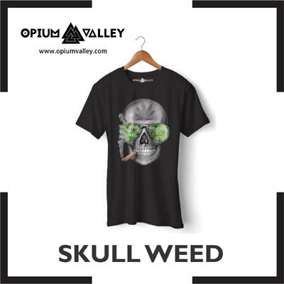 Skull Weed Round Neck T-Shirts and Hoodies