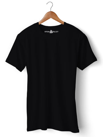 Black - Round Neck T-Shirt