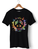 Peace & Love - Round Neck T-Shirt