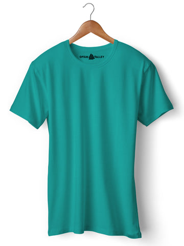 Sea Green - Round Neck T-Shirt - Opium Valley