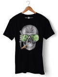 Skull Weed - Round Neck T-Shirt - Opium Valley
