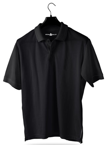 Black- Polo T-shirt - Opium Valley