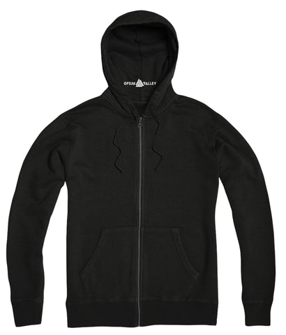 Black - Zipper Hoodie - Opium Valley