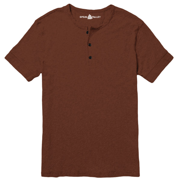 Brown - Henley T-Shirt - Opium Valley