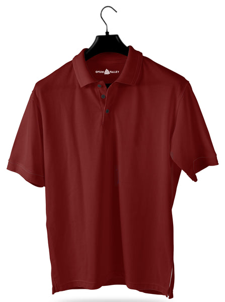Burgandy- Polo T-shirt - Opium Valley